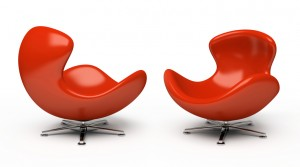 2 red chairs for executive coaching